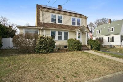 Dedham Single Family Home Contingent: 63 Lincoln St
