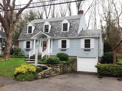 Wellesley Single Family Home Under Agreement: 66 Washburn Avenue
