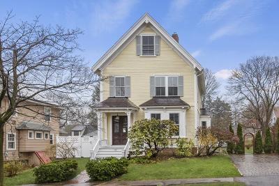 Arlington MA Single Family Home Under Agreement: $1,100,000