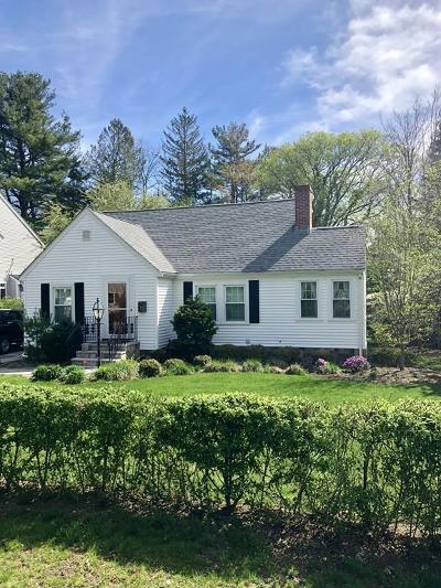 Wellesley Single Family Home Under Agreement: 3 Duxbury Rd