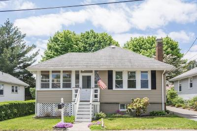 Quincy Single Family Home Under Agreement: 15 Newfield Street