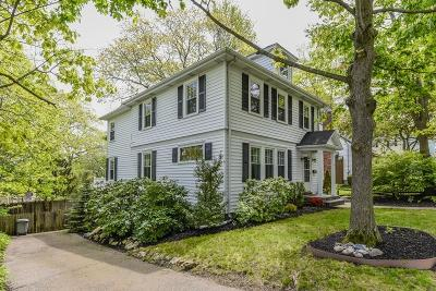 Dedham Single Family Home Contingent: 8 Reed Street