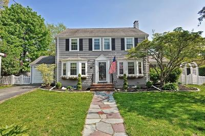 Dedham Single Family Home Contingent: 27 Puritan Ln