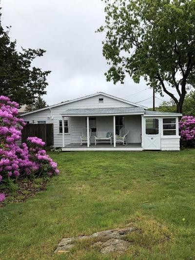 Manchester, Essex Single Family Home Under Agreement: 41 Robbins Island Road
