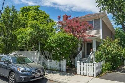 Cambridge Single Family Home For Sale: 173 Appleton Street