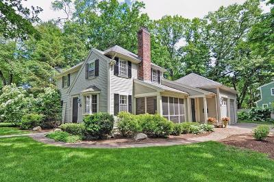 Wellesley Single Family Home Under Agreement: 92 Parker Rd