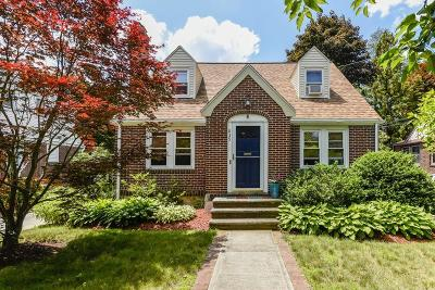 Dedham Single Family Home Under Agreement: 835 East St
