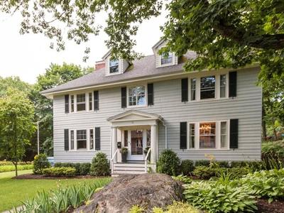 Wellesley Single Family Home Under Agreement: 18 Cushing Road