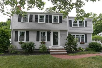 Norwell Single Family Home Contingent: 23 Brantwood Rd