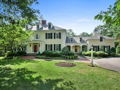 Wellesley MA Single Family Home For Sale: $3,988,000