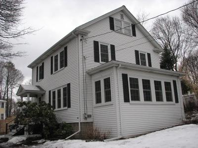 Dedham Single Family Home Contingent: 33 Greenhood St