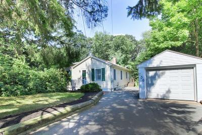 Dedham Single Family Home Contingent: 258 Sprague St