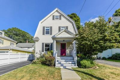 Dedham Single Family Home Contingent: 10 Crowley Ave