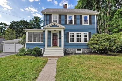 Dedham Single Family Home Contingent: 179 Jefferson St