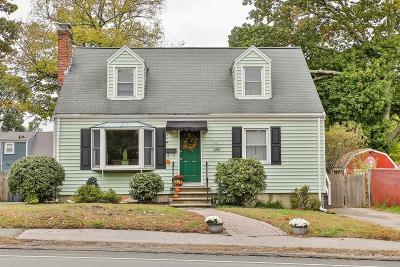 Dedham Single Family Home Under Agreement: 156 Sprague St