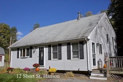 Hanson Single Family Home For Sale: 12 Short St