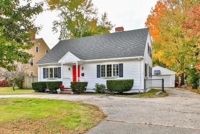 Dedham Single Family Home Under Agreement: 757 East St