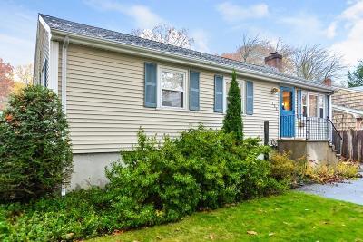 Dedham Single Family Home Contingent: 125 Bonham Rd