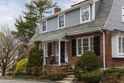 Wellesley Single Family Home Contingent: 1 Wiswall Cir #1
