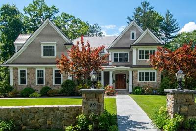 Wellesley MA Single Family Home For Sale: $3,975,000