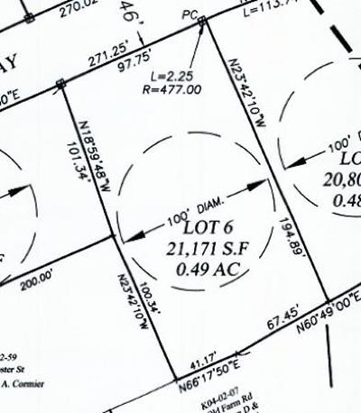 Marshfield Residential Lots & Land For Sale: Lot 6 Adelaide Way