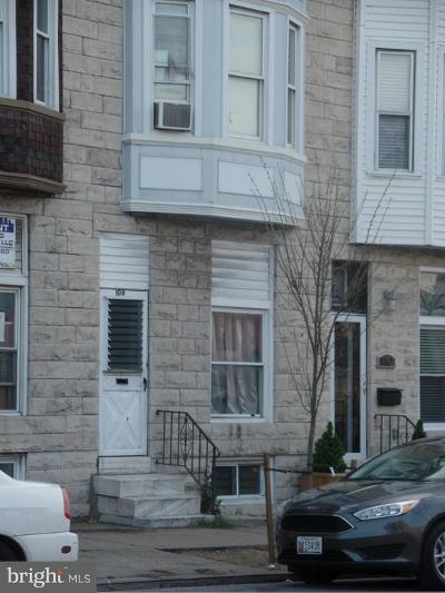 Baltimore Townhouse For Sale: 108 Highland Avenue N