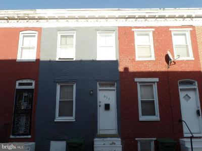 Baltimore Townhouse For Sale: 615 Archer Street