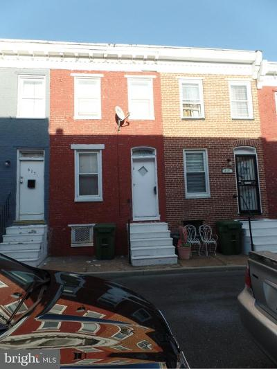 Baltimore Townhouse For Sale: 617 Archer Street