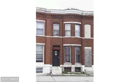 Baltimore MD Townhouse For Sale: $40,000