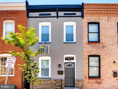 Baltimore Townhouse For Sale: 2625 Hudson Street