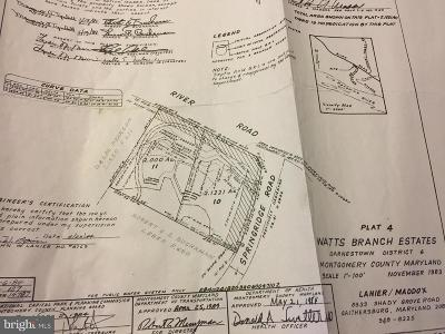 Potomac MD Residential Lots & Land For Sale: $595,000