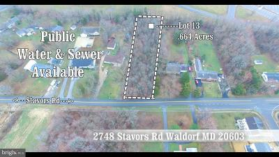 Waldorf Residential Lots & Land For Sale: 2748 Stavors Road
