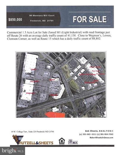 Frederick MD Residential Lots & Land For Sale: $850,000