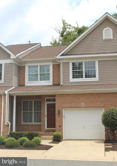 Bel Air Townhouse For Sale: 523 Dallam Court #2