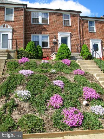 Catonsville Townhouse For Sale: 6166 Regent Park Road