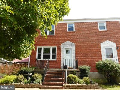 Baltimore Townhouse For Sale: 8215 Old Philadelphia Road