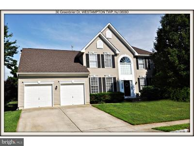 Westampton Single Family Home For Sale: 30 Greenbrier Drive