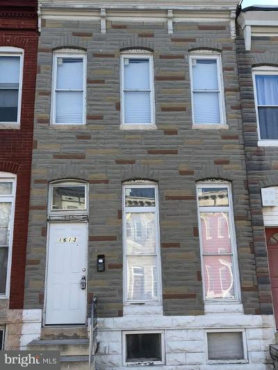Baltimore MD Townhouse For Sale: $45,000