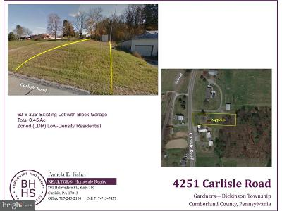 Cumberland County Residential Lots & Land For Sale: 4251 Carlisle Road