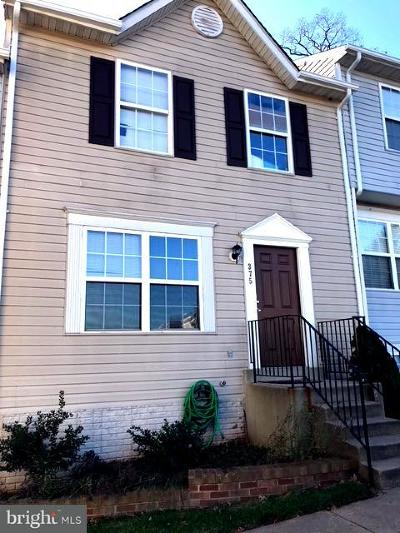 Manassas Townhouse Active Under Contract: 375 Moseby Court