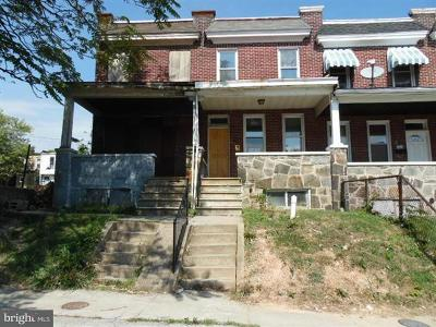 Baltimore MD Townhouse Under Contract: $21,000