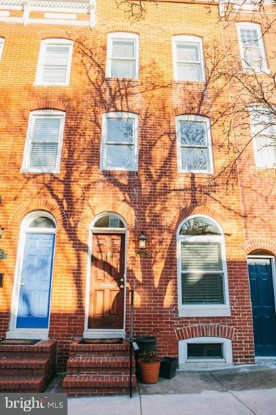 Federal Hill, Federal Hill - Riverside, Federal Hill South Townhouse For Sale: 1229 Battery Avenue