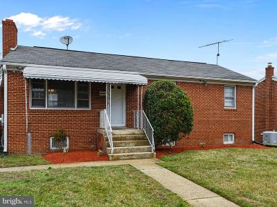 Suitland Single Family Home Active Under Contract: 5910 Cable Avenue