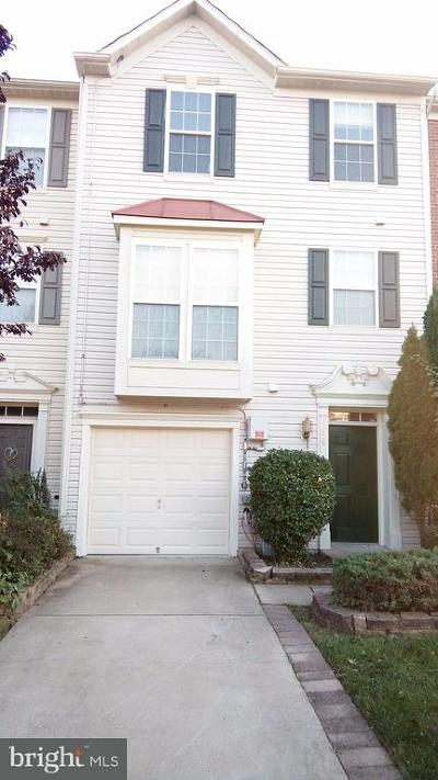 Bowie Townhouse For Sale: 4308 Begonia Drive