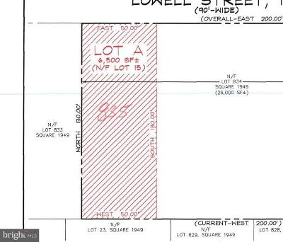 Residential Lots & Land For Sale: Lowell Street NW