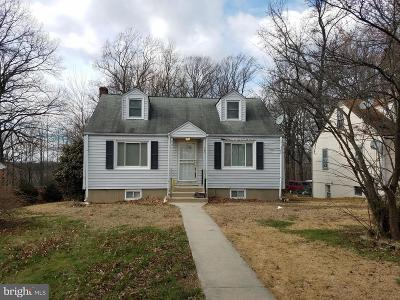 Temple Hills Single Family Home Under Contract: 4877 Long View Road