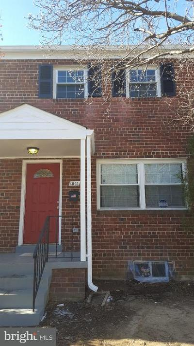 Temple Hills Rental For Rent: 4003 28th Avenue
