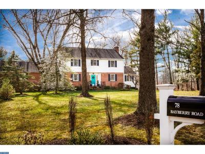 Princeton Single Family Home For Sale: 78 Bayberry Road