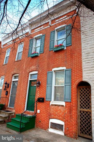 Baltimore Single Family Home For Sale: 1712 Charles Street