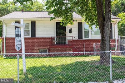 Capitol Heights MD Single Family Home For Sale: $224,999